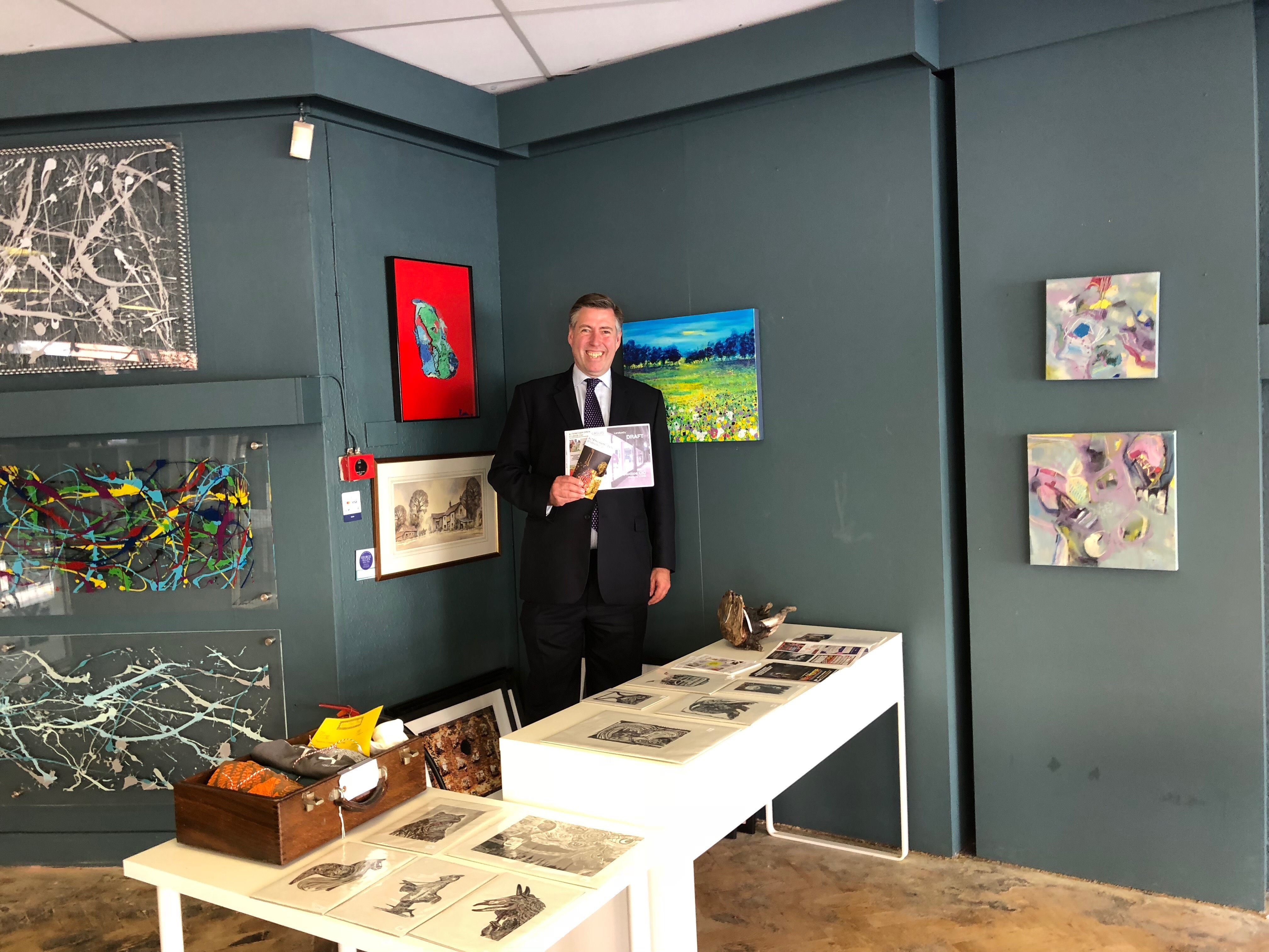 Graham at Open Studios