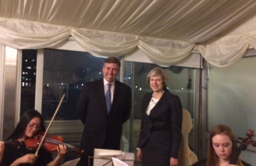 Theresa May with Graham Brady at Friends of Grammar Schools event